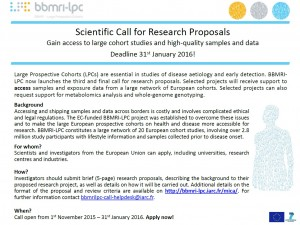 BBMRI-LPC Scientific Call Poster