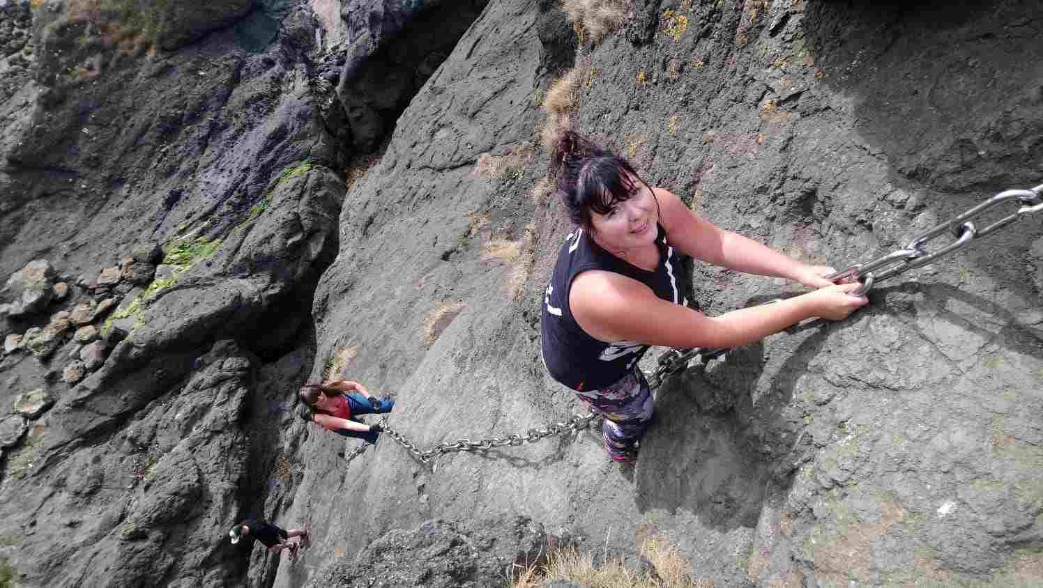 Sharon Climbing