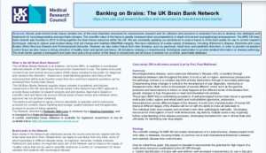 Thumbnail image of the UK Brain Bank Network's poster entry to the UK Biobank of the Year Award